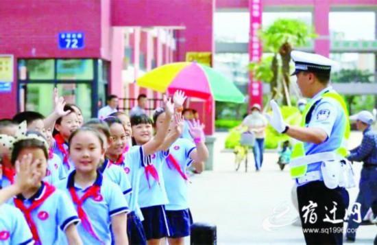 开学季保障道路安全畅通 宿迁交警将全员上路