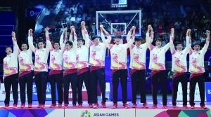 第18届亚运会男子篮球决赛中国男篮战胜伊朗队夺冠