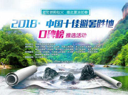 """""""中国十佳避暑胜地口碑榜""""正式出炉 湖北13家单位上榜"""