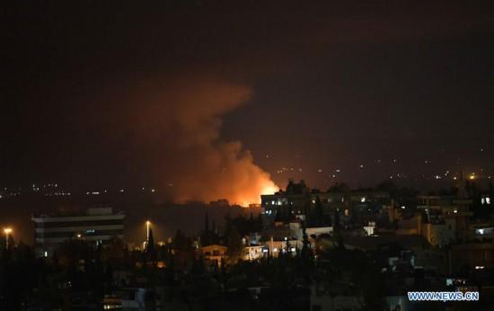 SYRIA-DAMASCUS-AIR BASE-EXPLOSION