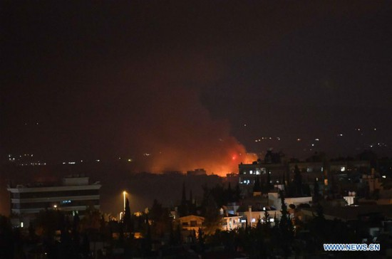 SYRIA-DAMASCUS-AIR BASE-EXPLOSION