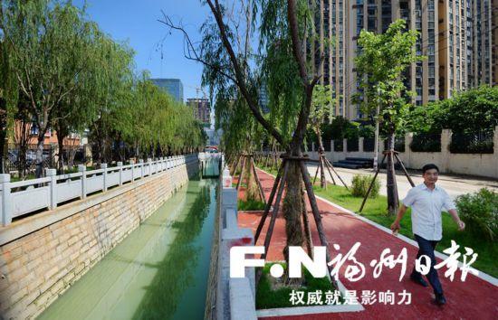 """福州晋东水系首批3条""""卷地毯""""示范河道全面建成开放"""