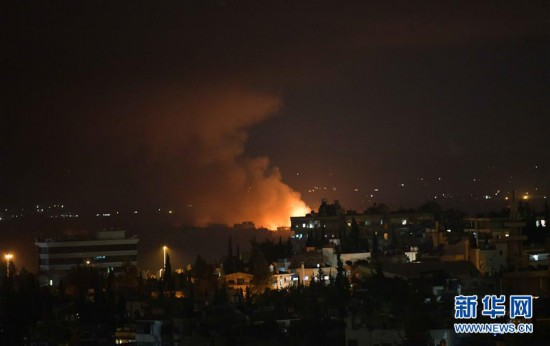 (国际)(1)叙首都一军用机场附近发生连续爆炸