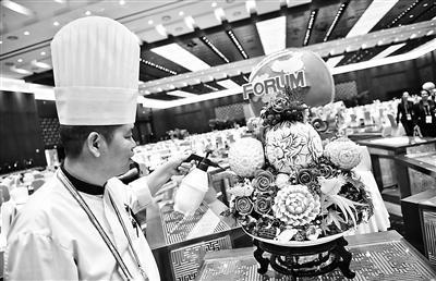 北京特色小吃端上中非论坛宴会餐桌