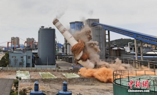 """实拍长江护绿""""第一爆"""":沿江热电厂被拆除"""