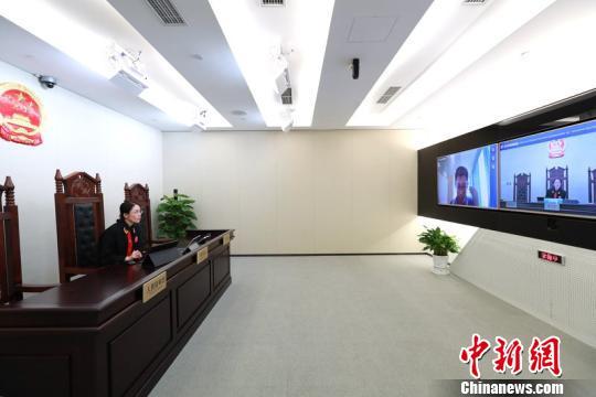 9日,北京互联网法院正式揭牌成立。图为北京互联网法院。北京高院提供