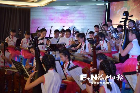 """福州连江�g头中心小学培养300多名""""小传承人"""" 让十番古乐在校园生根发芽"""