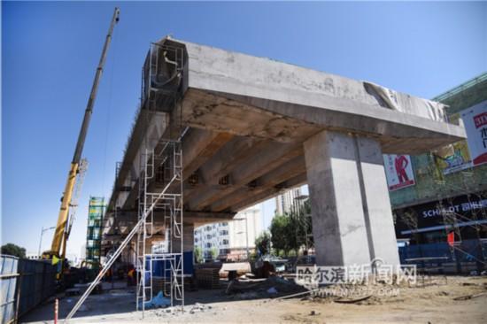 哈尔滨城乡路高架桥十月末通车