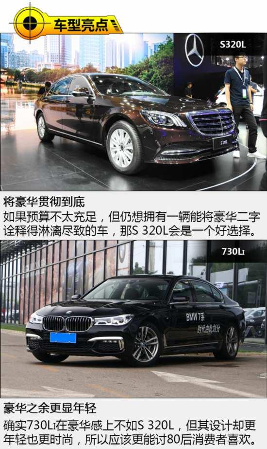 80万买一线豪华旗舰车型 奔驰S320L对宝马730Li-图5