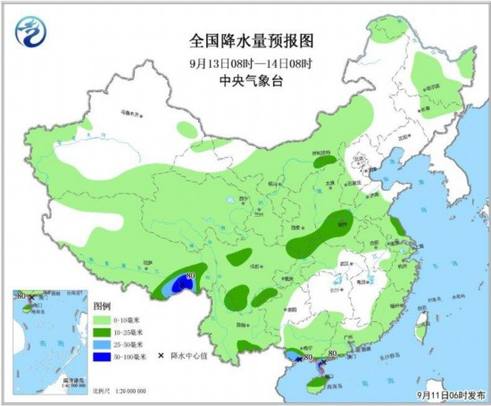 西南地区等地多降雨热带低压影响华南沿海