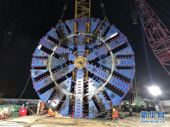 """(国际・""""一带一路""""5周年)(1)卡纳普里河底隧道项目:盾构机组装迎来重要节点"""