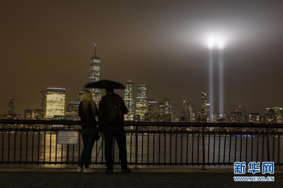 """(国际)(6)美国多地举行活动纪念""""9・11""""事件17周年"""
