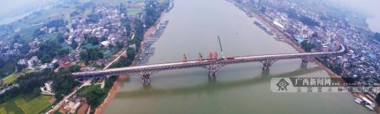 横县峦城大桥维修加固工程稳步推进 助其华丽变身