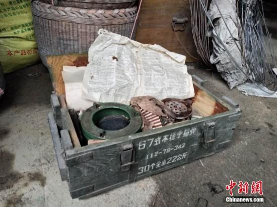 江西村民拆房发现木箱 内藏294发子弹(图)