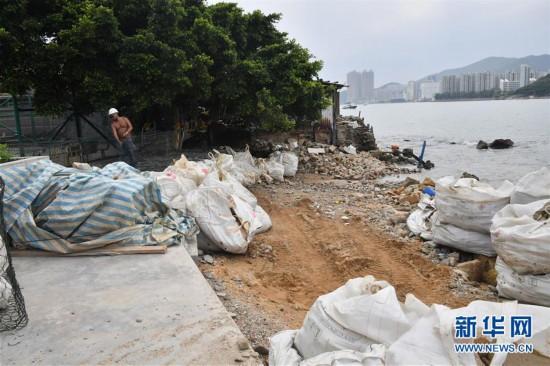"""(图文互动)(1)香港特区政府严阵以待 应对超强台风""""山竹"""""""