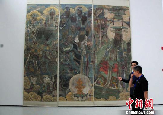 千年壁画复制与修复研究展亮相四川美术学院