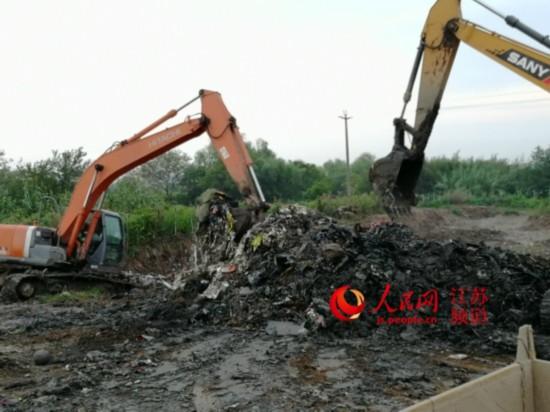 海门掩埋工业垃圾续:清运后进行第三方检测