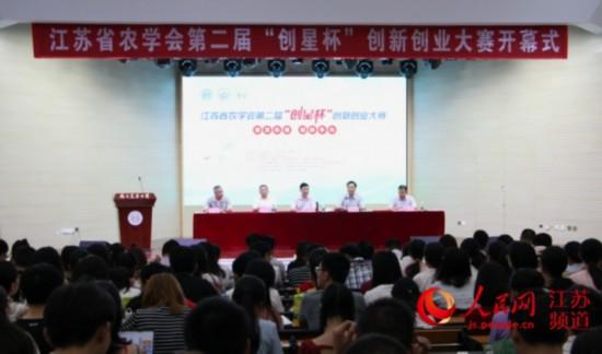 """第二届""""创星杯""""创新创业大赛在南京举行"""