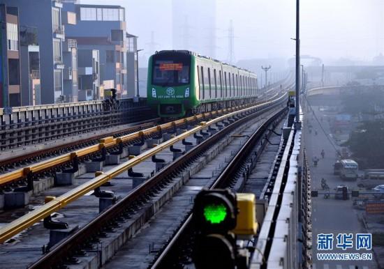 中企承建越南首条城市轻轨开始试运行
