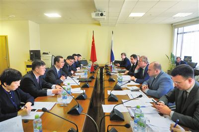 图为中俄两局局长会议现场