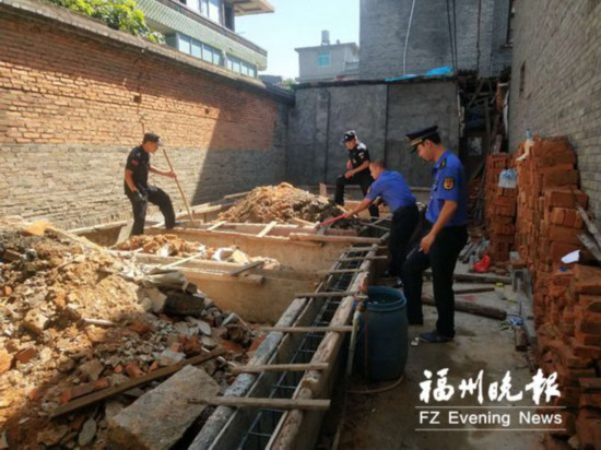 福州三江口无违建综合执法中队成立 一周内拆4处地基违建
