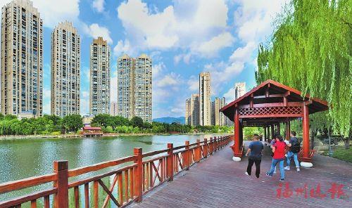 福州琴亭湖公园通过验收 国庆前对外开放