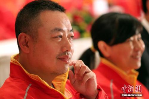 资料图:刘国梁。 <a target='_blank'  data-cke-saved-href='http://www.chinanews.com/' href='http://www.chinanews.com/'><p  align=
