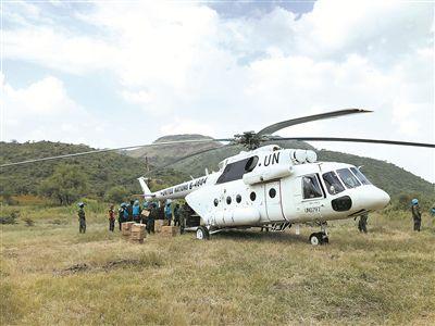 我赴苏丹达尔富尔维和直升机分队开辟救援新航线
