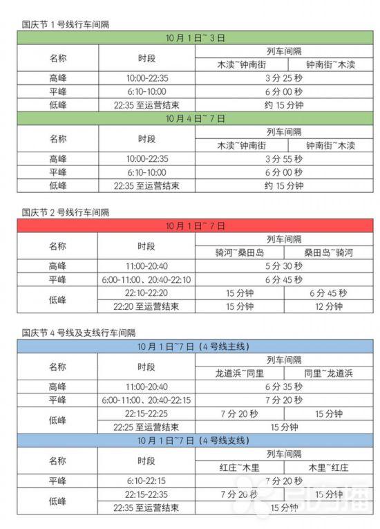 国庆期间葡京娱乐网址轨交末班车延后发车延长运营时间