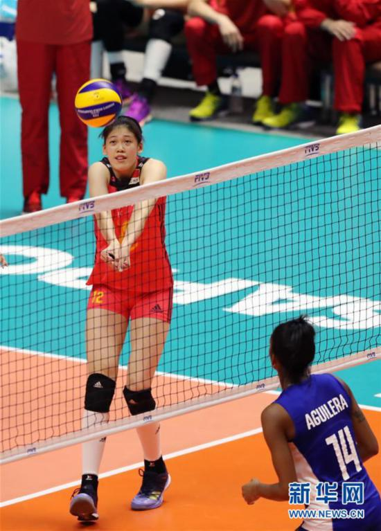 (体育)(5)排球――女排世锦赛:中国胜古巴