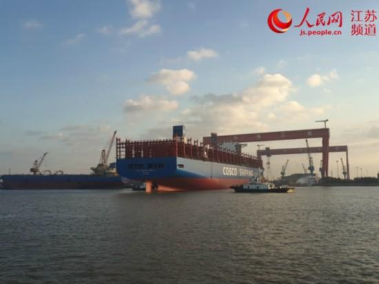 江苏海事一周:护航超大型船舶出坞 保障安全