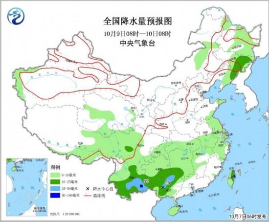 内蒙古中东部,华北东部,山东半岛和新疆山口地区等地的部分地区有4~6