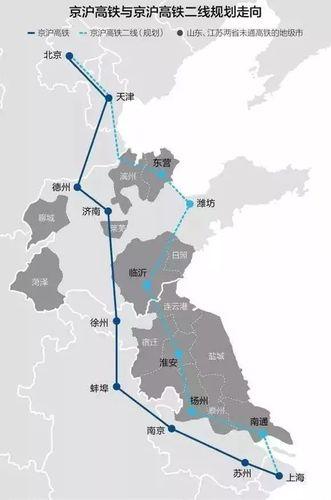 这条铁路的修建,将把江苏沿海的连云港,盐城和南通与北京和上海贯通