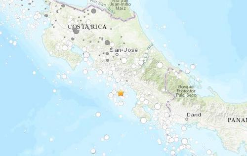 哥斯达黎加附近海域发生4.9级地震 震源深度10公里