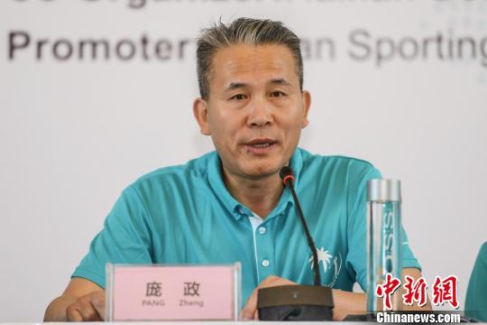 中国高尔夫球协会秘书长庞政。主办方供图