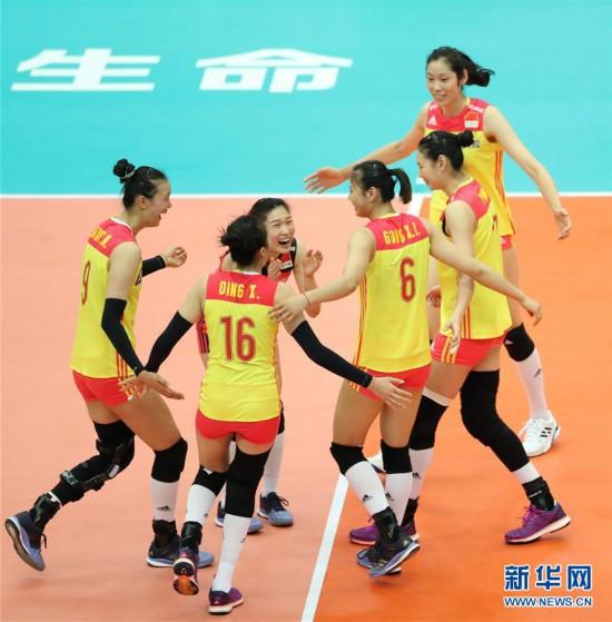 女排世锦赛:中国胜美国