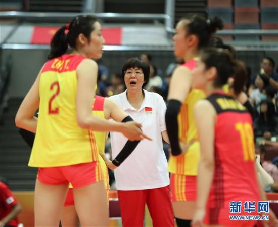 (体育)(11)排球――女排世锦赛:中国胜美国