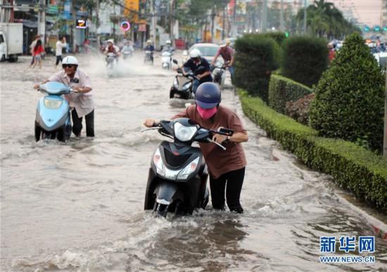 (国际)(2)越南芹苴潮水泛滥