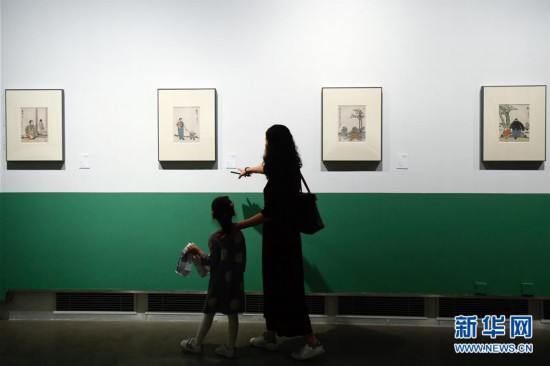 (文化)(1)丰子恺诞辰120周年回顾展在杭州开幕