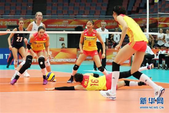 (体育)(8)排球――女排世锦赛:中国胜美国