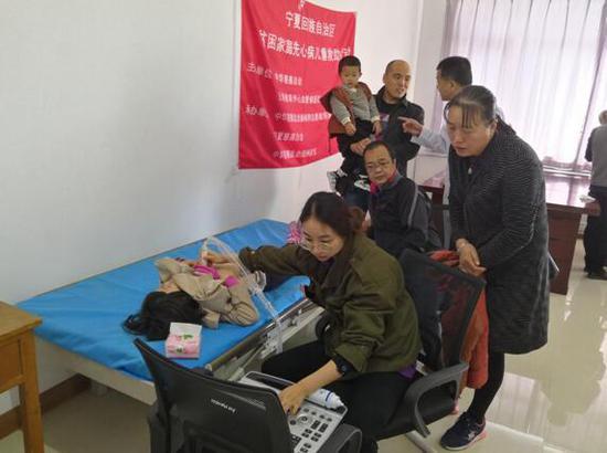 宁夏自治区筛查现场。