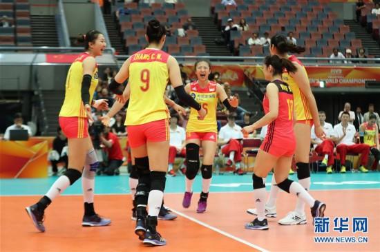(体育)(12)排球――女排世锦赛:中国胜美国