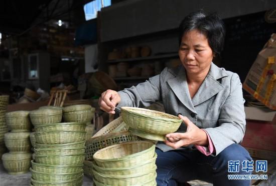 (经济)(1)竹编产业助增收