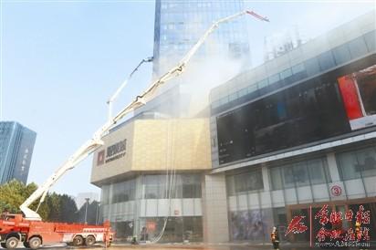 大型高层建筑灭火救援综合演练昨举行