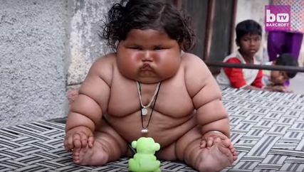 印度1岁多女婴每天吃48顿饭 体重已达25公斤(图)