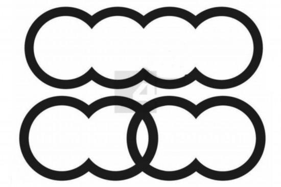 奥迪申请新Logo 被吐槽像毛毛虫