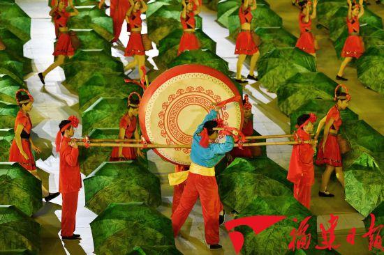 福建省第十六届运动会开幕式在宁德市举行