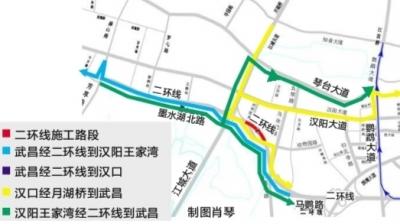 武汉市二环线墨水湖立交封闭施工6小时