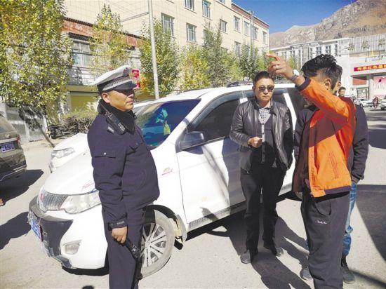拉萨交警开展非法营运车辆专项整治