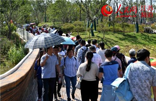 第十屆江蘇省園藝博覽會入園客流超百萬